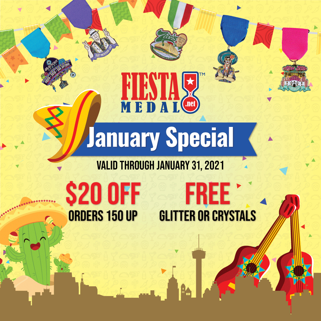 Save on Fiesta Medals in January!